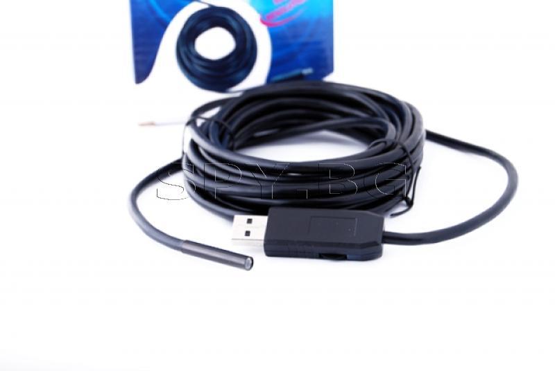 USB ендоскоп 5 метра, 5.5 мм